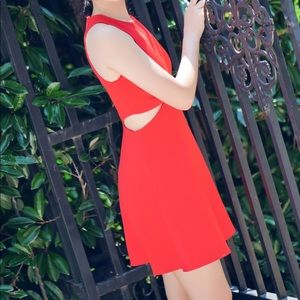 Express Red Dress with cut-outs